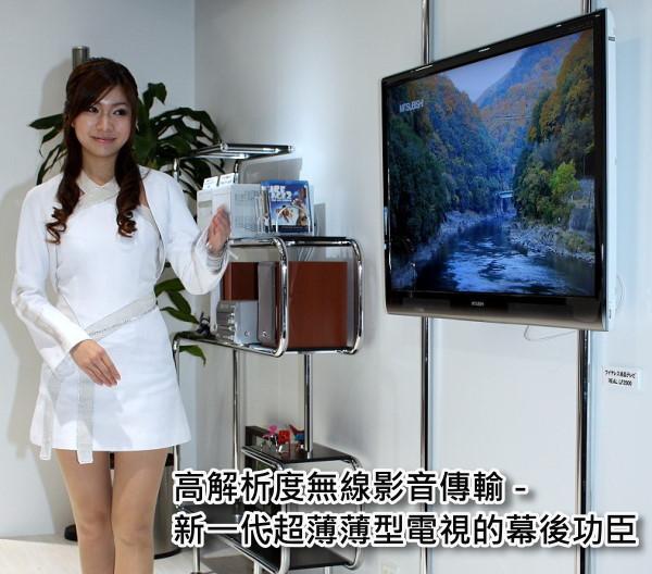 【CEATEC 2008】高解析度無線影音傳輸 – 新一代超薄薄型電視的幕後功臣